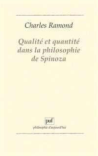 Qualité et quantité dans la philosophie de Spinoza