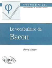 Le vocabulaire de Bacon