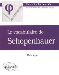 Le vocabulaire de Schopenhauer
