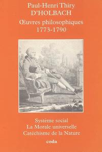 Oeuvres philosophiques : 1773-1790