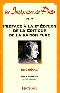 Préface à la 2e édition de la Critique de la raison pure