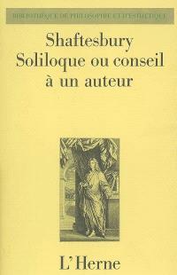 Soliloque ou Conseil à un auteur