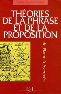 Théories de la phrase et de la proposition : de Platon à Averroès