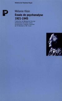 Essais de psychanalyse : 1921-1945