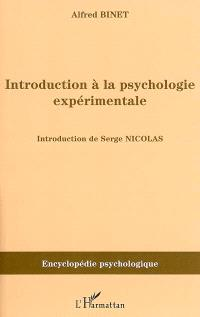 Introduction à la psychologie expérimentale (1894)