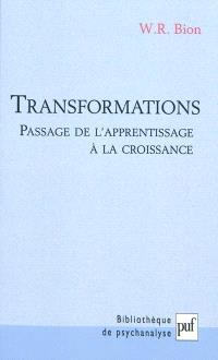 Transformations : passage de l'apprentissage à la croissance