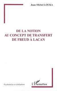 De la notion au concept de transfert de Freud à Lacan
