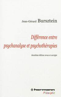 Différence entre psychanalyse et psychothérapies
