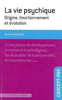 La vie psychique : origine, fonctionnement et évolution