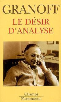 Le désir d'analyse
