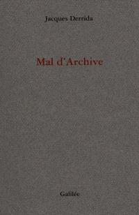 Mal d'archive : une impression freudienne