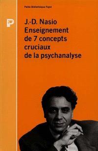 Enseignement des 7 concepts cruciaux de la psychanalyse
