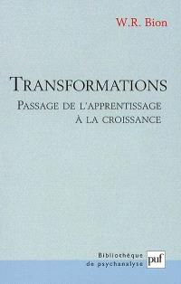 Transformations : passage de l'apprentissage à la croissance