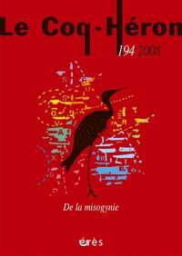 Coq Héron (Le). n° 194, De la misogynie