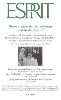 Esprit. n° 306, Divorce : idéal du consentement ou peur du conflit ?