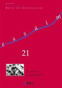 Essaim. n° 21, L'erre de la métaphore