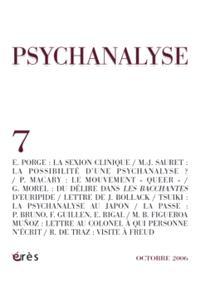 Psychanalyse. n° 7