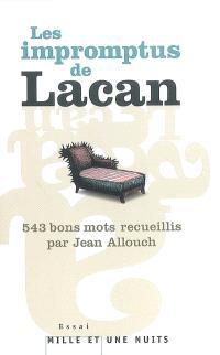 543 impromptus de Jacques Lacan