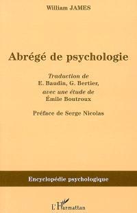 Abrégé de psychologie (1892)