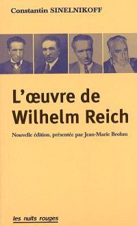L'oeuvre de Wilhelm Reich