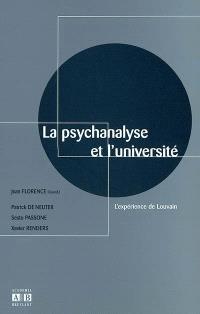 La psychanalyse et l'université : l'expérience de Louvain