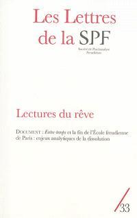 Lettres de la Société de psychanalyse freudienne (Les). n° 33, Lectures du rêve