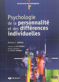 Psychologie de la personnalité et des différences individuelles