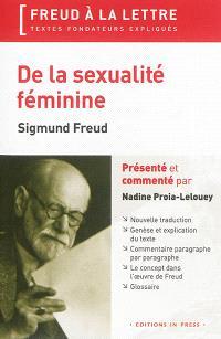 De la sexualité féminine : 1931