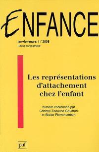 Enfance. n° 1 (2008), Les représentations d'attachement chez l'enfant