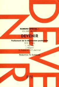 Devenir. n° 3 (2001), Traitement de la dépression postnatale