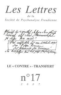 Lettres de la Société de psychanalyse freudienne (Les). n° 17, Le contre-transfert
