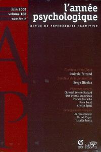 Année psychologique (L'). n° 2 (2008)