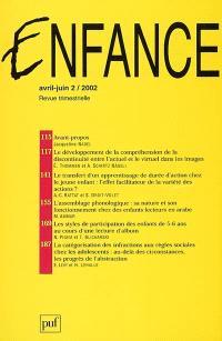 Enfance. n° 2 (2002)