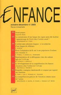 Enfance. n° 4 (2005)
