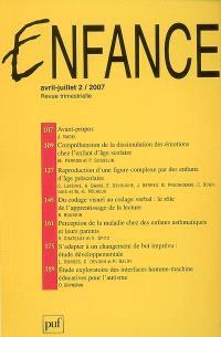 Enfance. n° 2 (2007)