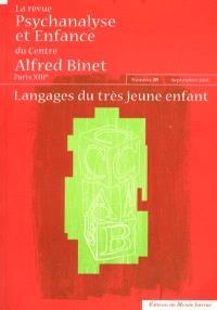 Revue Psychanalyse et enfance du Centre Alfred Binet (La). n° 28, Langages du très jeune enfant
