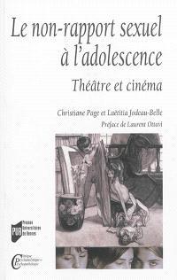 Le non-rapport sexuel à l'adolescence : théâtre et cinéma