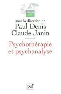 Psychothérapie et psychanalyse
