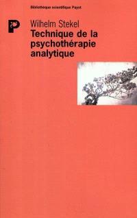 Technique de la psychothérapie analytique