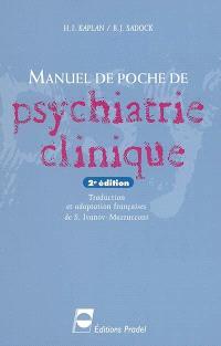 Manuel de poche de psychiatrie clinique