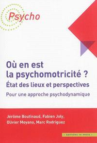 Où en est la psychomotricité ? : état des lieux et perspectives : pour une approche psychodynamique