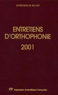 Entretiens d'orthophonie 2001