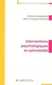 Interventions psychologiques en périnatalité