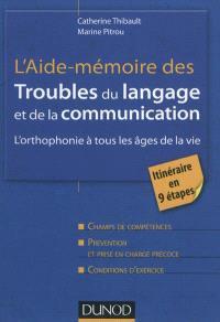 L'aide-mémoire des troubles du langage et de la communication : l'orthophonie à tous les âges de la vie