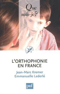 L'orthophonie en France