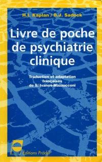 Livre de poche en psychiatrie clinique