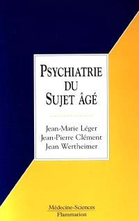 Psychiatrie du sujet âgé