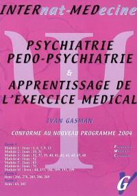 Psychiatrie, pédopsychiatrie & apprentissage de l'exercice médical : nouvelles questions de l'internat 2004