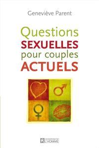 Questions sexuelles des couples actuels
