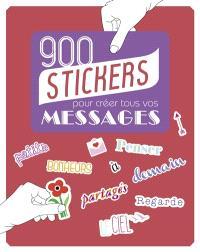 900 stickers pour créer tous vos messages